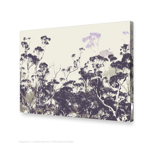 tree canvas art braidwood purple rectangular