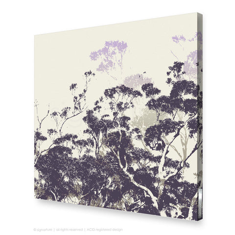 tree canvas art braidwood purple square
