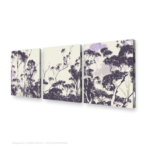 tree canvas art braidwood purple triptych
