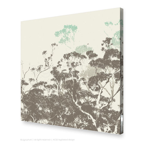 tree canvas art braidwood blue square