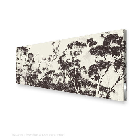 tree canvas art braidwood brown panoramic