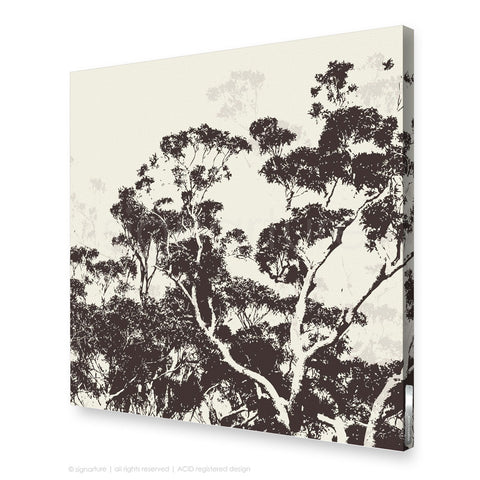 tree canvas art braidwood brown square