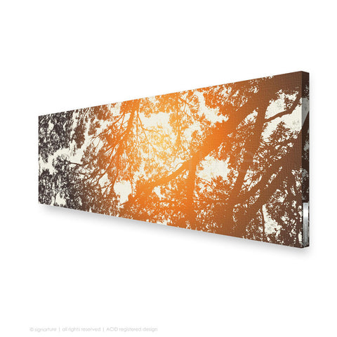 tree canvas art gleneagles orange panoramic