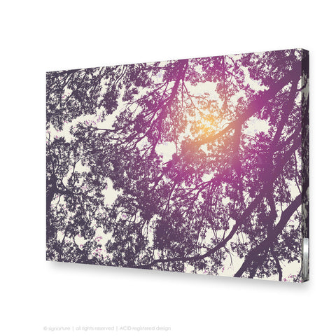 tree canvas art gleneagles purple rectangular