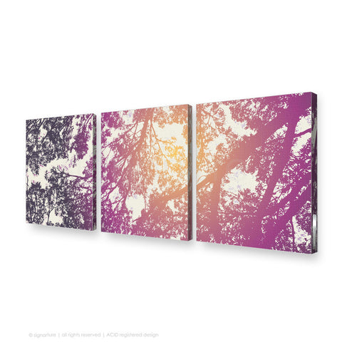 tree canvas art gleneagles purple triptych