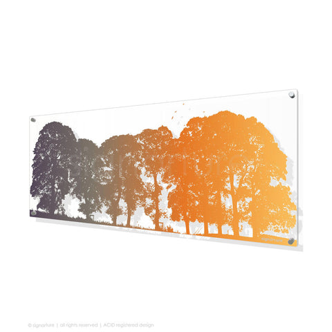 tree perspex art aberfeldy orange panoramic