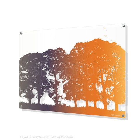 tree perspex art aberfeldy orange rectangular