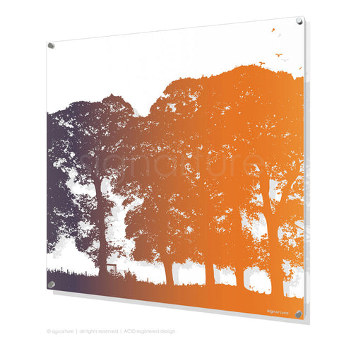 tree perspex art aberfeldy orange square