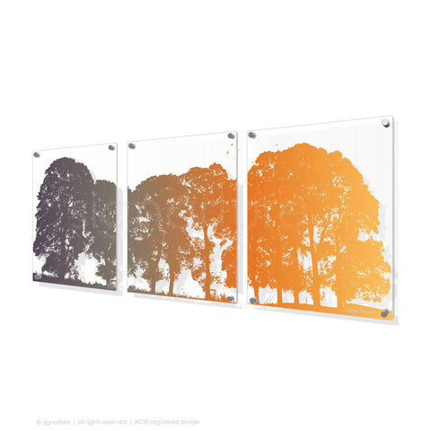 tree perspex art aberfeldy orange triptych