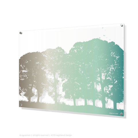 tree perspex art aberfeldy blue rectangular