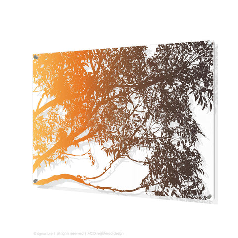 tree perspex art blackheath orange rectangular