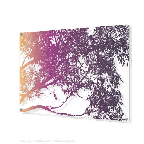 tree perspex art blackheath magenta rectangular