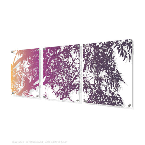 tree perspex art blackheath magenta triptych
