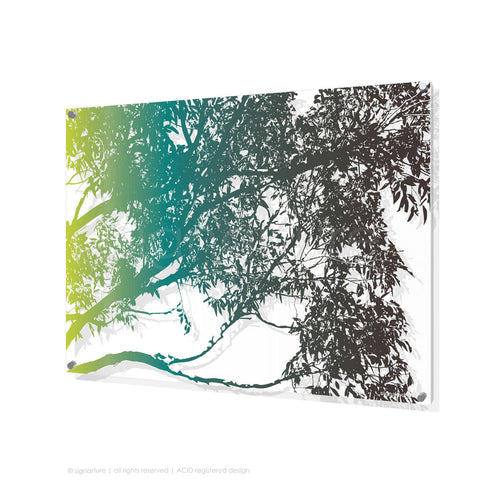 tree perspex art blackheath blue rectangular