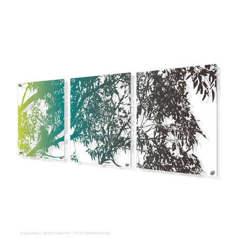 tree perspex art blackheath blue triptych
