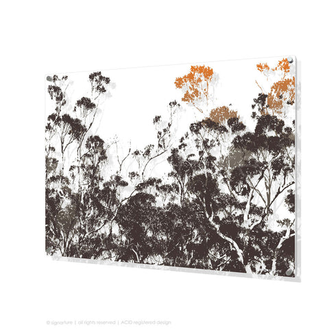 tree perspex art braidwood orange rectangular