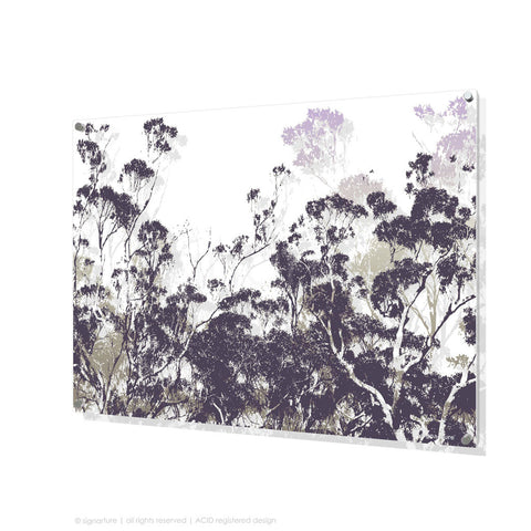 tree perspex art braidwood purple rectangular