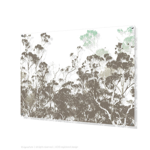 tree perspex art braidwood blue rectangular