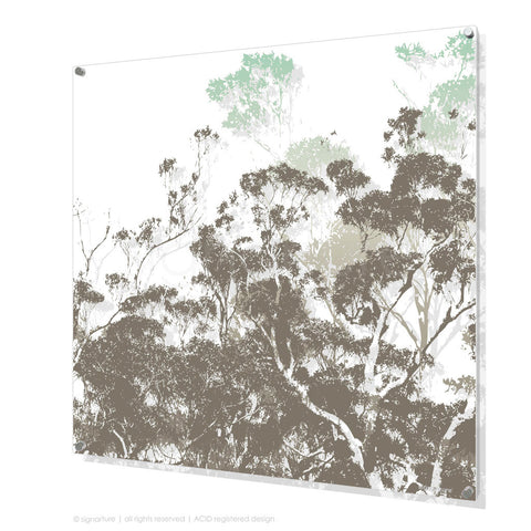 tree perspex art braidwood blue square