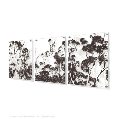 tree perspex art braidwood brown triptych