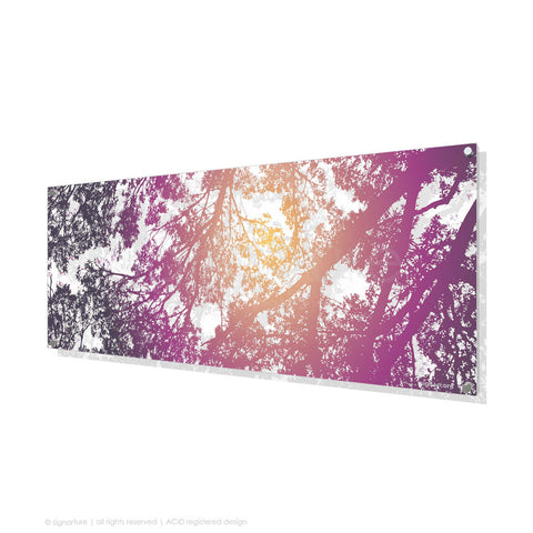 tree perspex art gleneagles purple panoramic