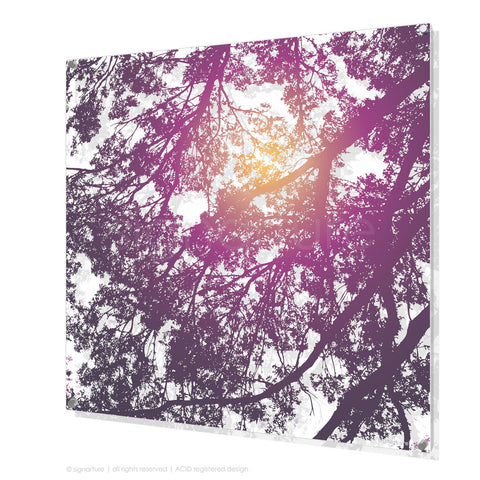 tree perspex art gleneagles purple square