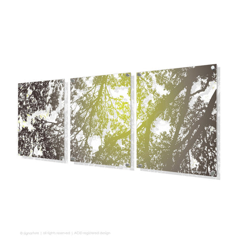 tree perspex art gleneagles green triptych