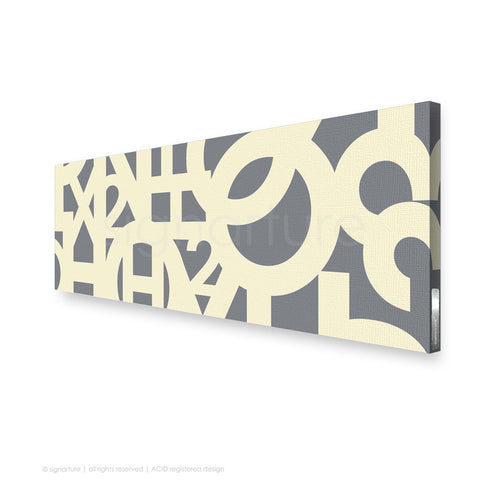 word canvas art hoxton grey panoramic