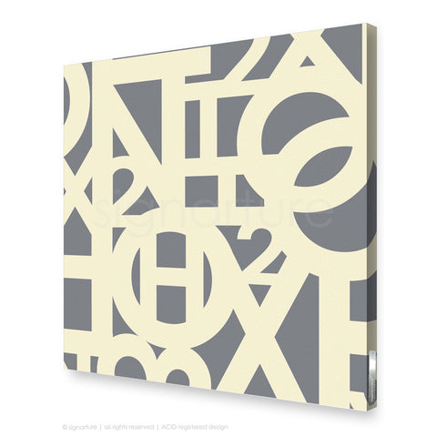 word canvas art hoxton grey square