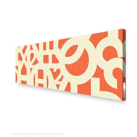 word canvas art hoxton orange panoramic