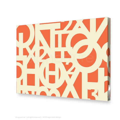 word canvas art hoxton orange rectangular
