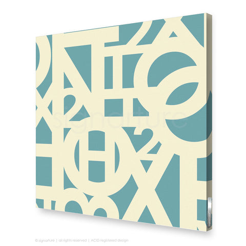 word canvas art hoxton blue square