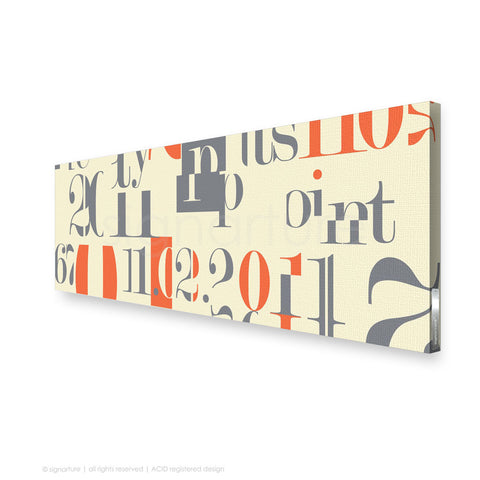 word canvas art islington orange panoramic