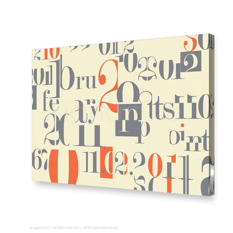 word canvas art islington orange rectangular