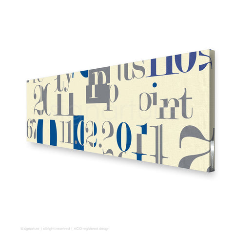 word canvas art islington blue panoramic