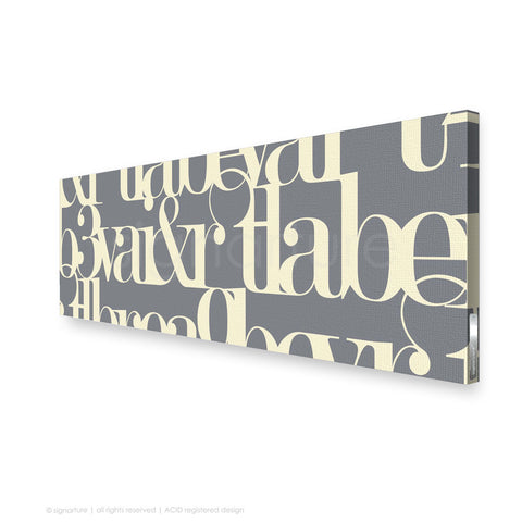 word canvas art kensington grey panoramic