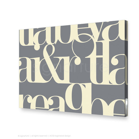 word canvas art kensington grey rectangular