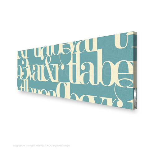 word canvas art kensington blue panoramic