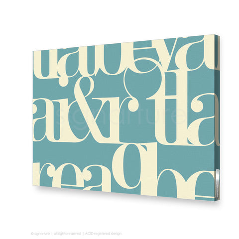 word canvas art kensington blue rectangular