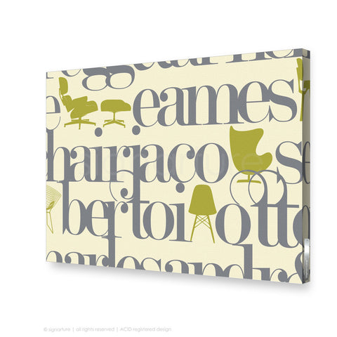 word canvas art west brompton grey rectangular