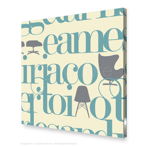 word canvas art west brompton blue square