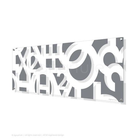 word perspex art hoxton grey panoramic