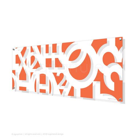 word perspex art hoxton orange panoramic