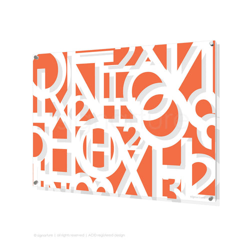 word perspex art hoxton orange rectangular