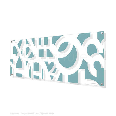 word perspex art hoxton blue panoramic