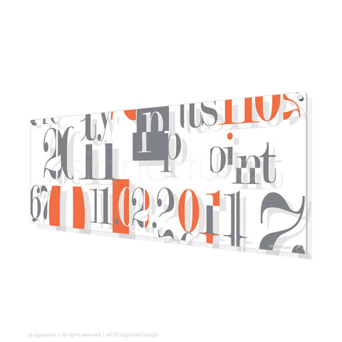 word perspex art islington orange panoramic