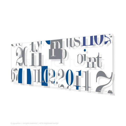 word perspex art islington blue panoramic