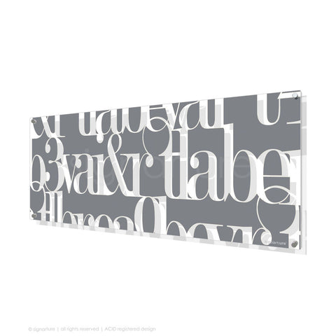 word perspex art kensington grey panoramic