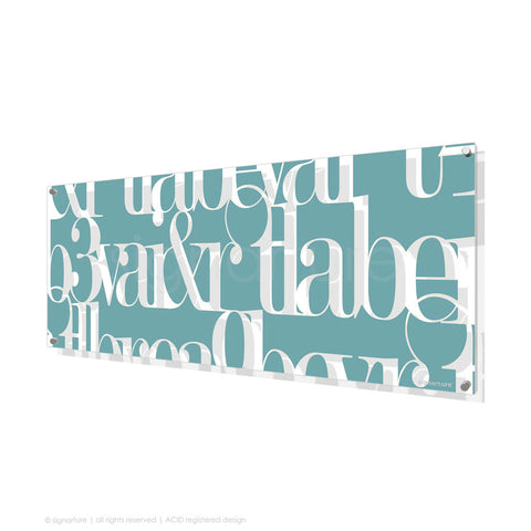 word perspex art kensington blue panoramic