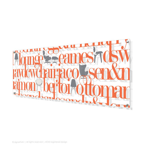 word perspex art west brompton orange panoramic